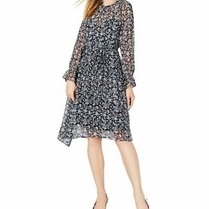 Maison Jules  2  K6-10 BLue Floral Print Dress
